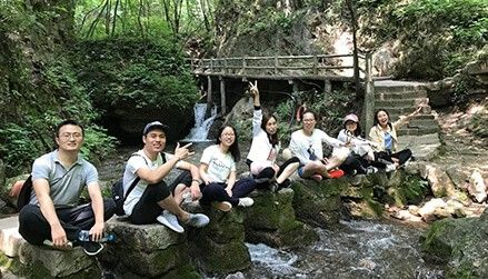 Our sales team enjoy the summer holiday in laojun mountain of luanchuan county